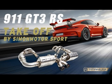Porsche 991 GT3 RS W/ iPE Titanium Exhaust System( with headers) - Take off sound