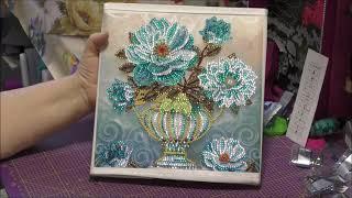 Diamond Painting - Aufbewahrungsbox mit Blumengesteck