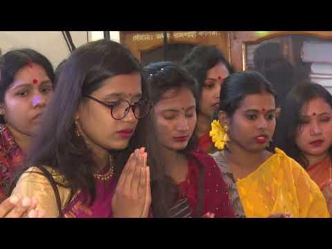 রাজশাহীতে হিন্দু সম্প্রদায়ের অন্যতম ধর্মীয় উৎসব সরস্বতী পূজা পালন