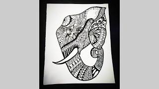 Doodling Ideas : Elephant Doodle   Doodle Frames