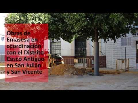 Las obras en San Vicente y San Julián estarán para antes de Navidades