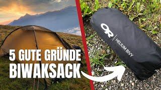 Biwaksack vs. Zelt - 5 gute Gründe für einen Biwaksack