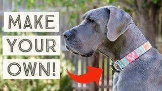 DIY Dog Collar - How to make your own custom dog collars!   Great Dane Care