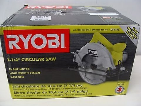 Ryobi 13-Amp 7-1/4 in. Circular Saw-CSB125 Review