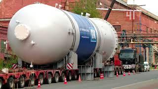 Перевозка огромной трубы для газопровода Северный…