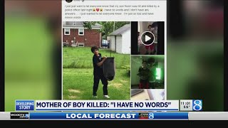 Mother of boy killed: 'I have no words'
