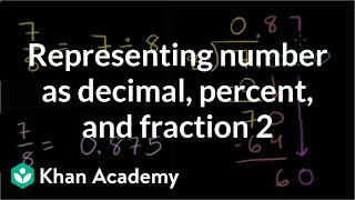 Representing a number as a decimal, percent, and fraction 2