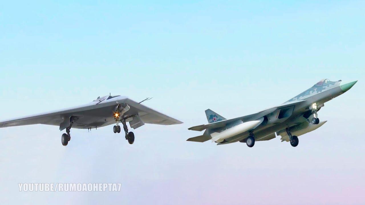 A Rússia prevê que o Su-57 e o S-70 trabalhem juntos em tempo de guerra como uma equipe.