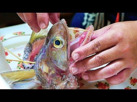 Japanese Street Food - SNAKE FISH Burger Seafood Japan
