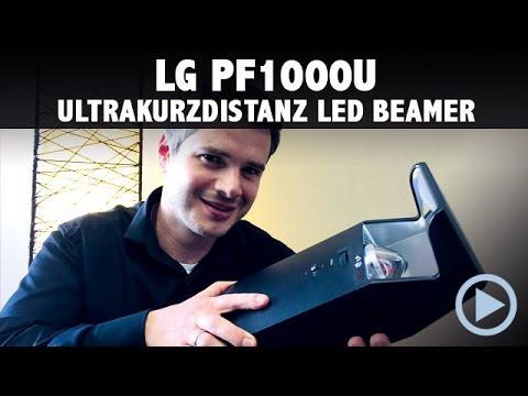LG PF1000U Minibeam LED Beamer Kurzdistanz im Test / Vorstellung deutsch, german