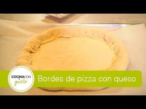 Pizza con borde de queso