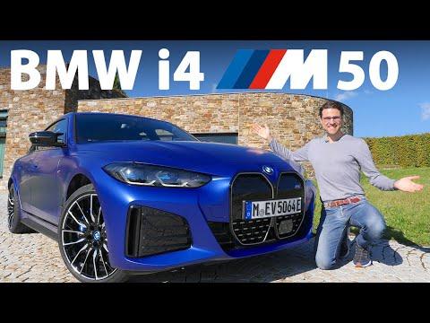 BMW i4 M50 driving REVIEW - the German midsize EV sedan against the Tesla Model 3!