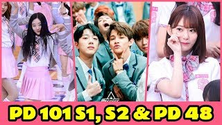 Produce 101 S1, S2 and Produce 48 Rating Comparison