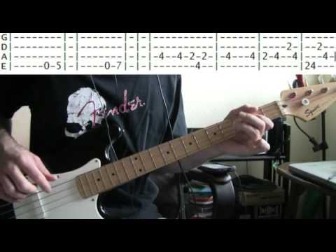 bass guitar lessons online Kiss detroit rock city tab