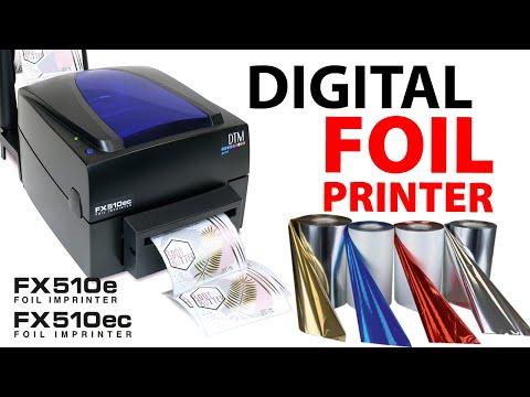DTM Print FX510e Thermal Transfer Foil Printer video thumbnail