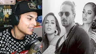 REACCIONO😱 a Maluma, Becky G, Anitta - Mala Mía🔥 (Remix - Lyric Video) Themaxready