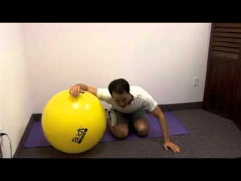 Shoulder Stretches on Ball