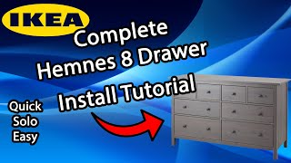 Easy And Solo Ikea Hemnes 8-Drawer Dresser Tutorial