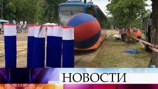 Столица отмечает День московского транспорта и приглашает сыграть в боулинг на трамвае.