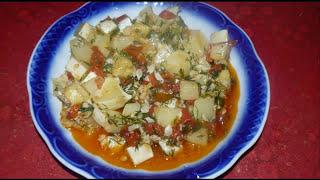 Полезный овощной гарнир. Простой и вкусный рецепт из патиссона.