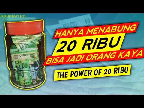 Cara menabung yang benar dan mudah hanya dengan 20 ribu - The Power Of 20 Ribu