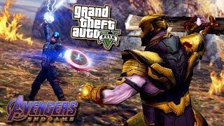 GTA V THANOS VS CAPTAIN AMERICA! - Avengers Endgame - GTA 5 Mods!
