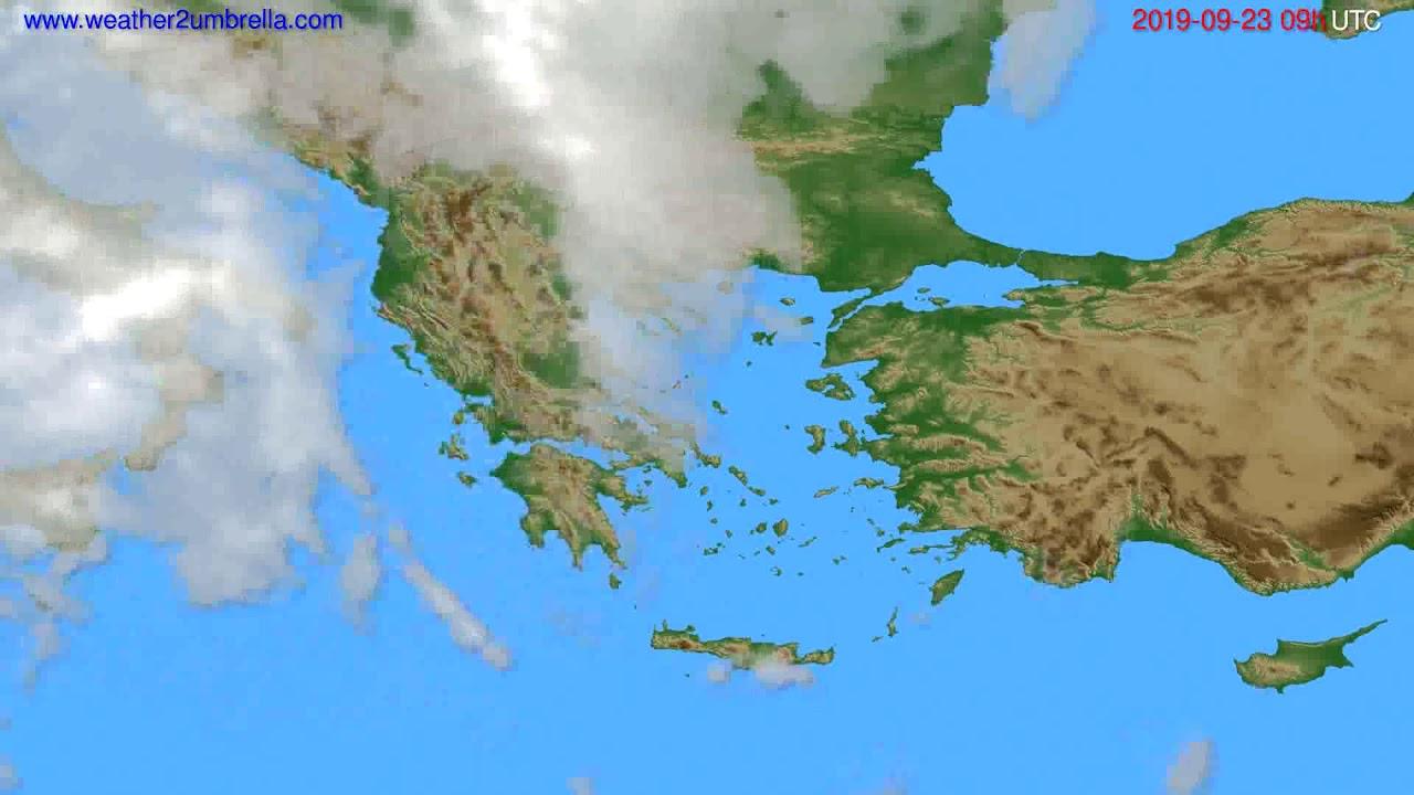 Cloud forecast Greece // modelrun: 00h UTC 2019-09-21