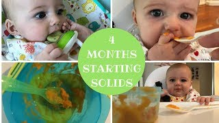 BABY STARTS SOLIDS (4 MONTHS) | BABY FOOD IDEAS