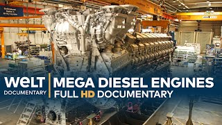 Mega Diesel Engines - How To Build A 13,600 HP Engine | Full Documentary