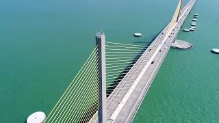 A Drone flight around Tampa Bay