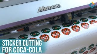 Sticker Cutting for Coca-Cola