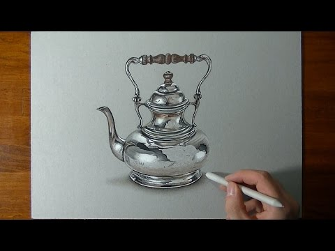 realistic teapot drawing video tutorial by marcello barenghi