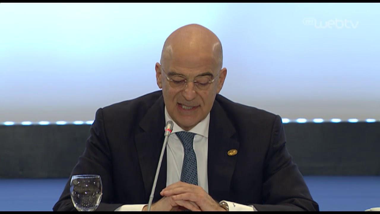 Εναρκτήρια ομιλία του Υπουργού Εξωτερικών, Ν. Δένδια, στη Σύνοδο των Δυτ.Βαλκανίων | 24/2/2020 | ΕΡΤ