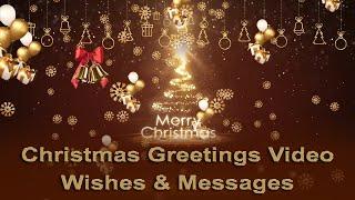 Merry Christmas greetings video cards | Christmas wishes animated video | Christmas tree animation