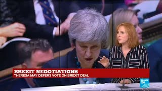 Theresa May changes tone in Brexit Vote speech