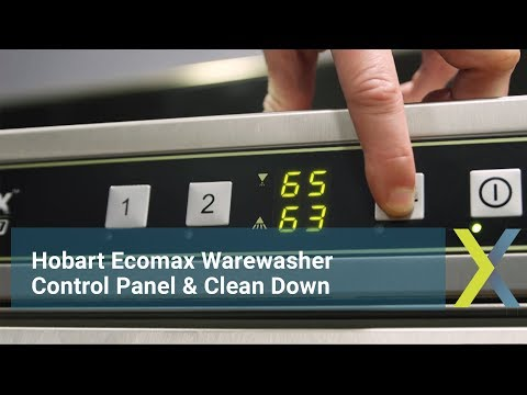 Hobart Ecomax control panel & clean down