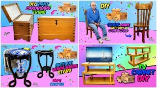 AWESOME Furniture You Can Make By Recycling Empty Cardboard Boxes