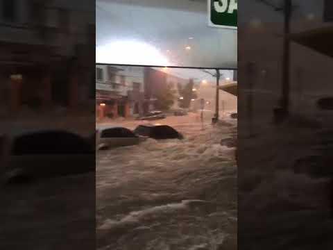 Жесть из Бразилии ! По улицам города вода несет автомобили