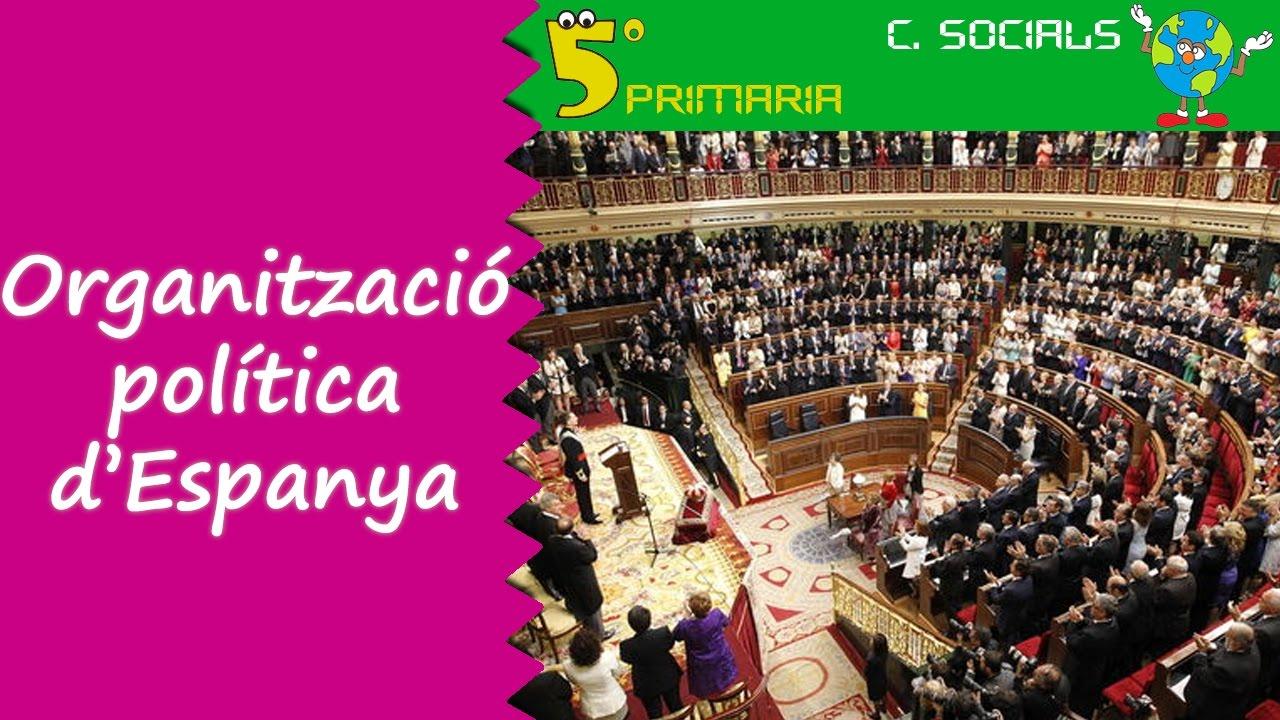 Organització política d'Espanya. Socials, 5é Primària. Tema 4