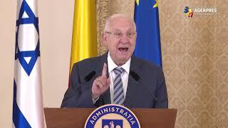Preşedintele Israelului: Legăturile noastre profunde se bazează atât pe trecutul nostru comun, cât şi pe viitorul comun