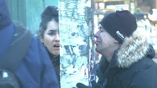 Tongue On A Frozen Pole PRANK!!
