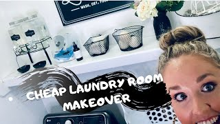 Cheap Laundry Room Makeover
