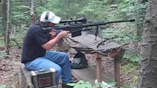 Shooting a M82A1 .50 Barrett Sniper Rifle