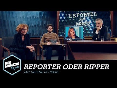 Reporter oder Ripper mit Sabine Rückert | Neo Magazin Royale mit Jan Böhmermann -  ZDFneo