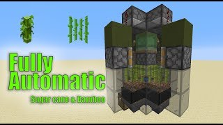 XSample - Minecraft 1.14.4 Tutorial - Fully Automatic Sugar cane and Bamboo Farm