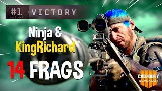 Ninja & KingRichard Run Blackout Duos!! 14 Frags - COD Black Ops 4 Blackout Gameplay