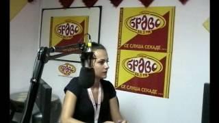 Hristina Petrovska vo Radio Bravo