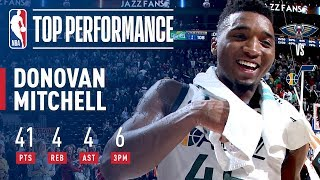 Donovan Mitchell Scores CAREER-HIGH 41 Points (Jazz Rookie Record) | December 1, 2017 | Kholo.pk