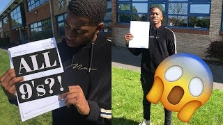 DID I GET ALL 9'S IN MY GCSE's?! | GCSE Results Day 2019 REACTION