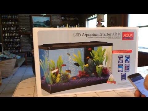 Unboxing And Review Of Walmarts 10 Gallon LED Aquarium Starter Kit
